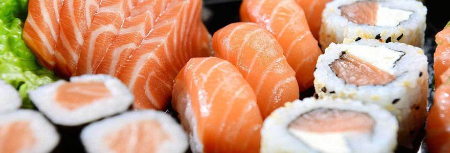 Commander des plats de sushi à emporter